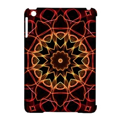 Yellow And Red Mandala Apple iPad Mini Hardshell Case (Compatible with Smart Cover)
