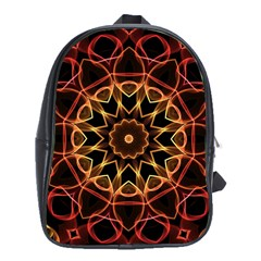 Yellow And Red Mandala School Bag (xl)