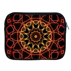 Yellow And Red Mandala Apple Ipad Zippered Sleeve