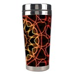 Yellow And Red Mandala Stainless Steel Travel Tumbler Right