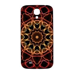 Yellow And Red Mandala Samsung Galaxy S4 I9500/I9505  Hardshell Back Case