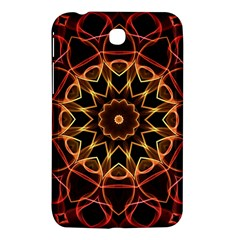Yellow And Red Mandala Samsung Galaxy Tab 3 (7 ) P3200 Hardshell Case