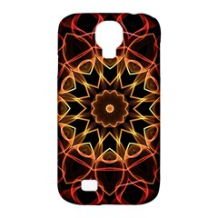 Yellow And Red Mandala Samsung Galaxy S4 Classic Hardshell Case (PC+Silicone)