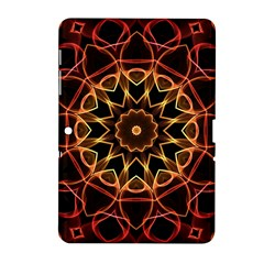 Yellow And Red Mandala Samsung Galaxy Tab 2 (10 1 ) P5100 Hardshell Case