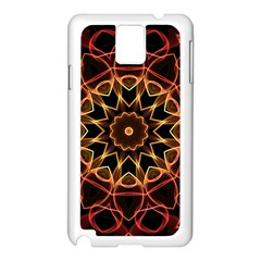 Yellow And Red Mandala Samsung Galaxy Note 3 N9005 Case (White)