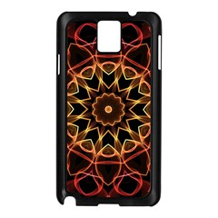 Yellow And Red Mandala Samsung Galaxy Note 3 N9005 Case (Black)