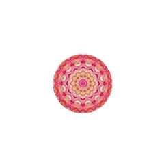 Yellow Pink Romance 1  Mini Button Magnet