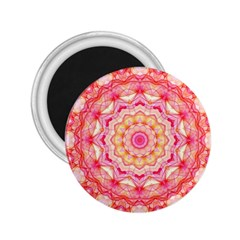 Yellow Pink Romance 2 25  Button Magnet