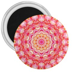 Yellow Pink Romance 3  Button Magnet