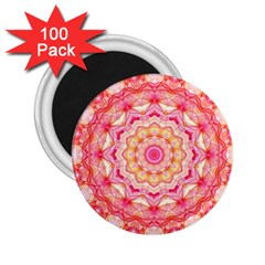 Yellow Pink Romance 2.25  Button Magnet (100 pack)