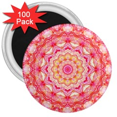 Yellow Pink Romance 3  Button Magnet (100 pack)
