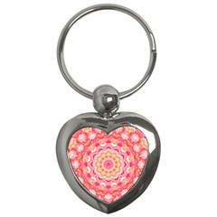 Yellow Pink Romance Key Chain (heart)