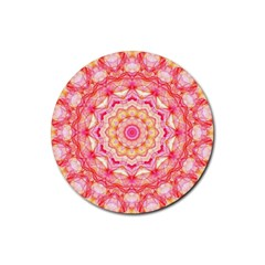 Yellow Pink Romance Drink Coasters 4 Pack (round)