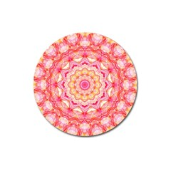 Yellow Pink Romance Magnet 3  (Round)