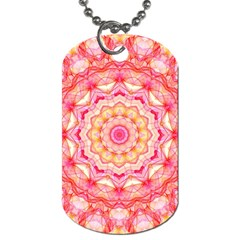 Yellow Pink Romance Dog Tag (One Sided)