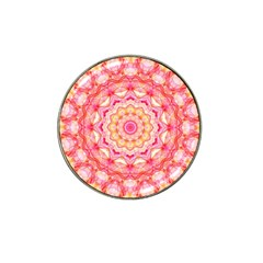 Yellow Pink Romance Golf Ball Marker 4 Pack (for Hat Clip)