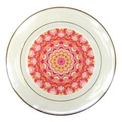 Yellow Pink Romance Porcelain Display Plate