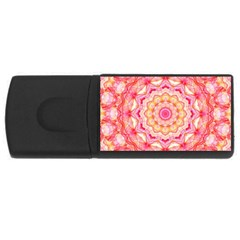 Yellow Pink Romance 4gb Usb Flash Drive (rectangle)