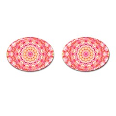Yellow Pink Romance Cufflinks (Oval)