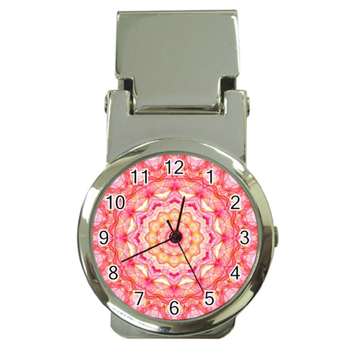 Yellow Pink Romance Money Clip with Watch
