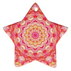 Yellow Pink Romance Star Ornament (Two Sides)