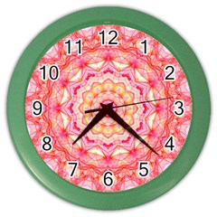 Yellow Pink Romance Wall Clock (Color)