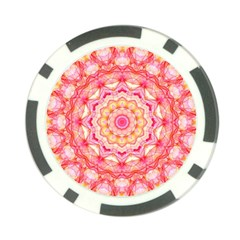 Yellow Pink Romance Poker Chip