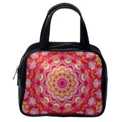 Yellow Pink Romance Classic Handbag (One Side)