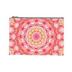 Yellow Pink Romance Cosmetic Bag (large)