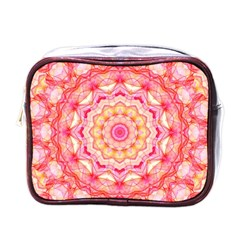 Yellow Pink Romance Mini Travel Toiletry Bag (one Side)