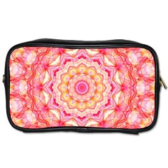 Yellow Pink Romance Travel Toiletry Bag (One Side)