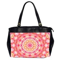 Yellow Pink Romance Oversize Office Handbag (Two Sides)