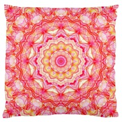 Yellow Pink Romance Large Cushion Case (Two Sided)