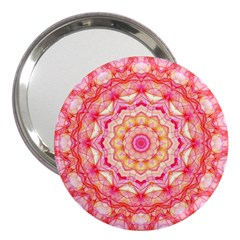 Yellow Pink Romance 3  Handbag Mirror