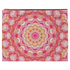 Yellow Pink Romance Cosmetic Bag (XXXL)
