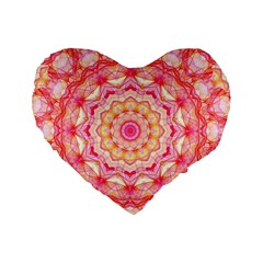 Yellow Pink Romance 16  Premium Heart Shape Cushion