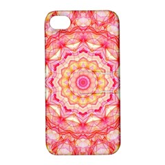 Yellow Pink Romance Apple iPhone 4/4S Hardshell Case with Stand