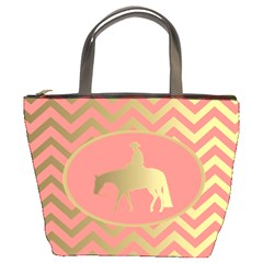 Golden Western Pleasure Horse Bucket Handbag