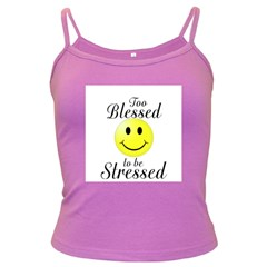 To Blessed To Be Stressed Spaghetti Top (Colored)