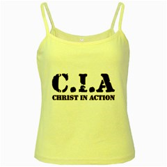 Christ In Action C I A Yellow Spaghetti Tank