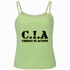 Christ In Action C I A Green Spaghetti Tank