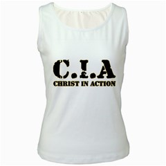 Christ In Action C I A Women s Tank Top (White)