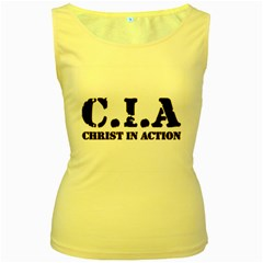 Christ In Action C I A Women s Tank Top (Yellow)