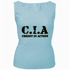 Christ In Action C I A Women s Tank Top (Baby Blue)