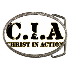 Christ In Action C I A Belt Buckle (oval)