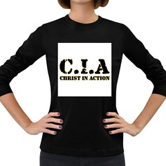 Christ In Action C I A Women s Long Sleeve T Shirt (dark Colored)