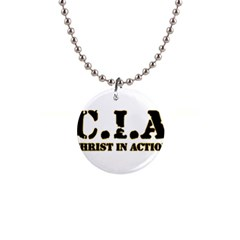 Christ In Action C I A Button Necklace