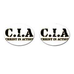 Christ In Action C I A Cufflinks (Oval)