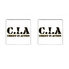 Christ In Action C I A Cufflinks (Square)