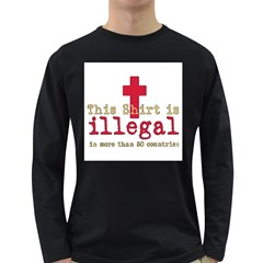 This Shirt Is Illegal Men s Long Sleeve T-shirt (Dark Colored)